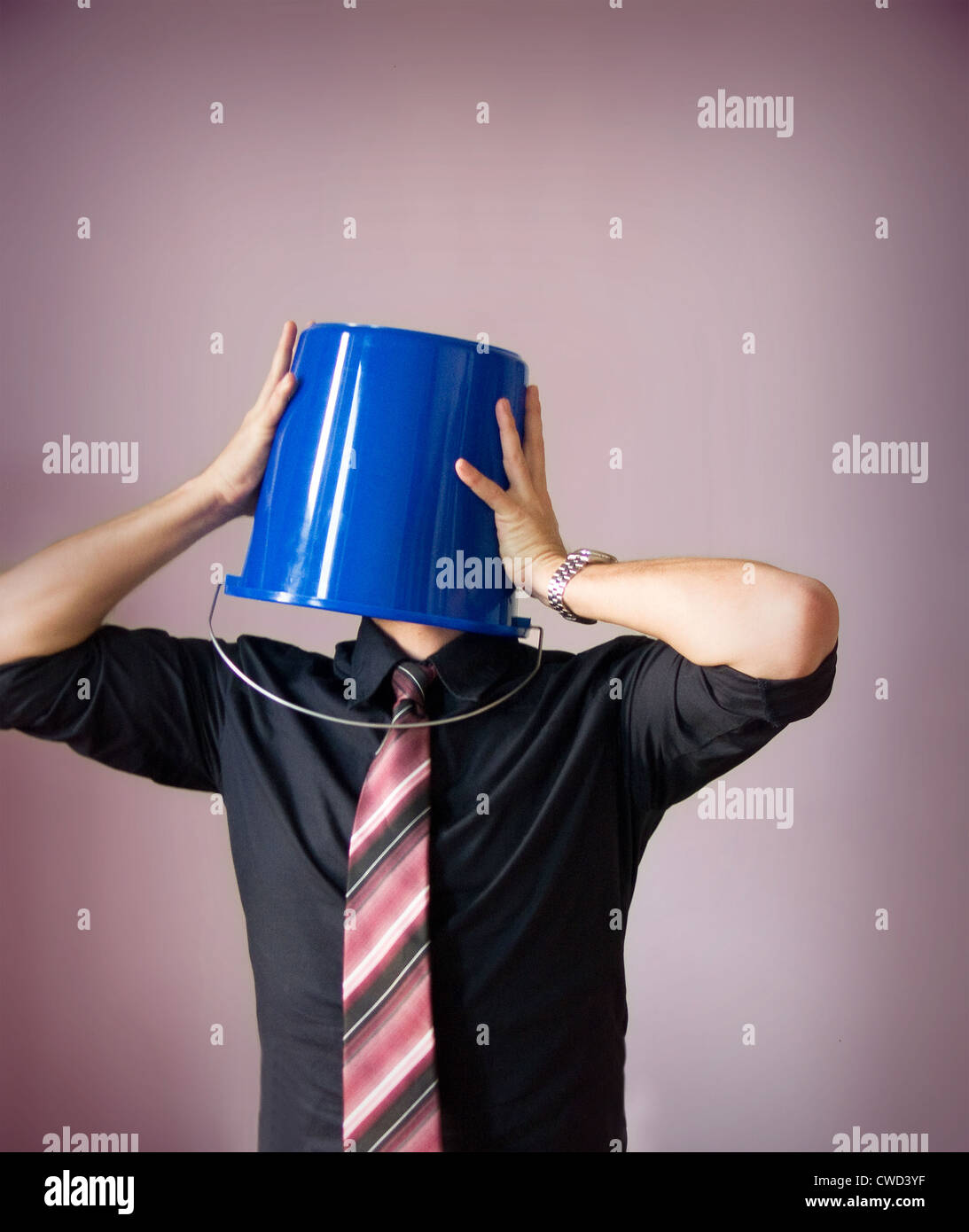 businessman,doubts,worry,anonymity - Stock Image