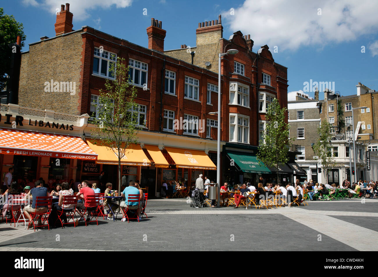Comptoir libanais and casa brindisa restaurants and greenfields cafe on exhibition road south kensington london uk