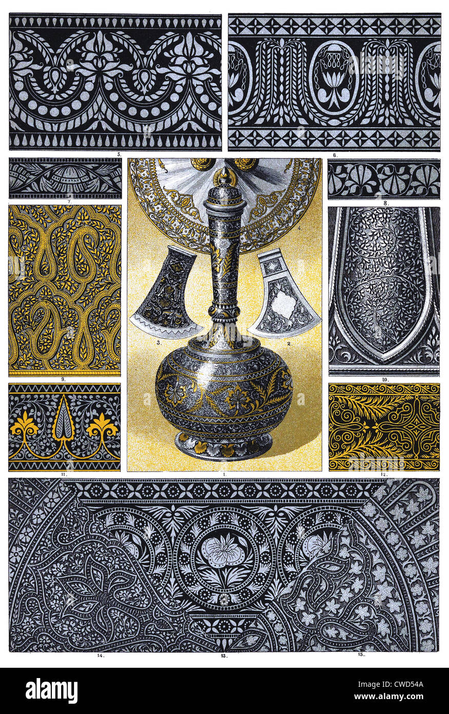 Indian metalwork - Stock Image