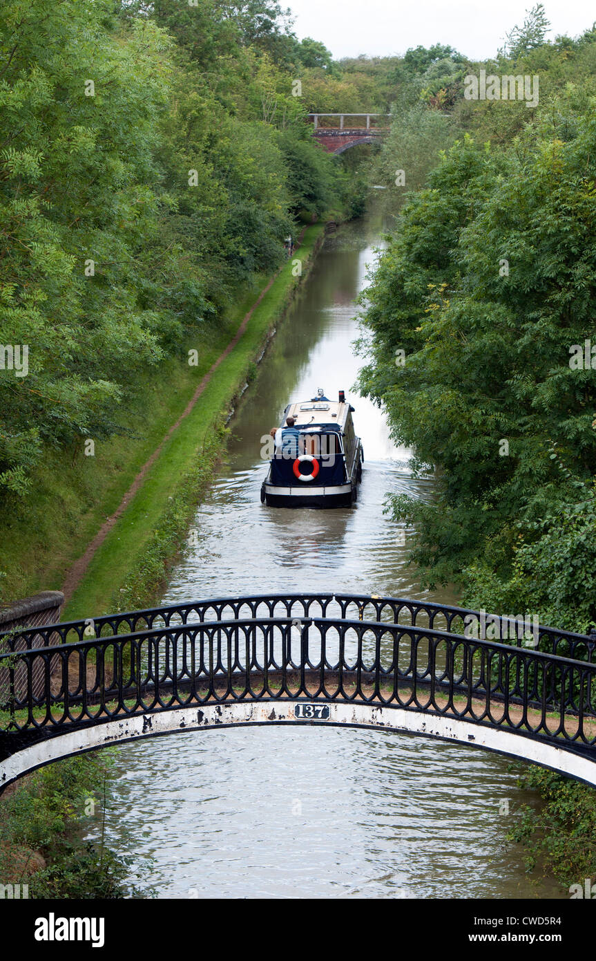 The Oxford Canal near Fenny Compton, Warwickshire, UK - Stock Image