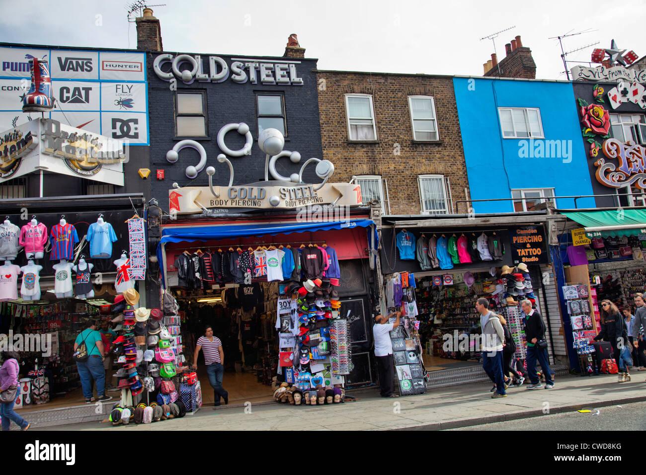 548ade96fe Camden Market High Street Shops - London UK Stock Photo  50079332 ...