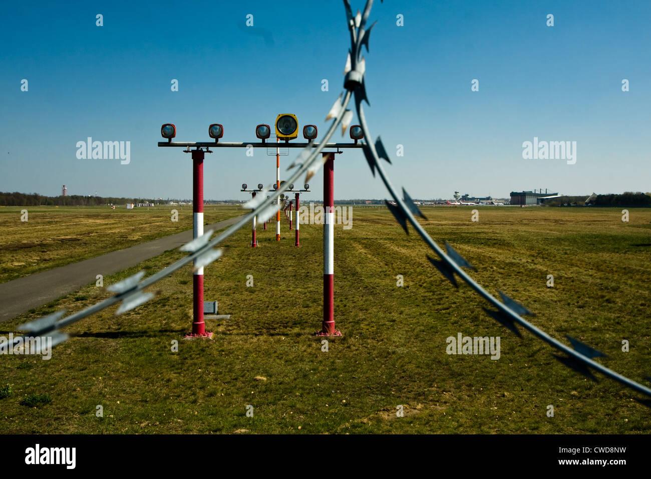 airfield,guiding light - Stock Image