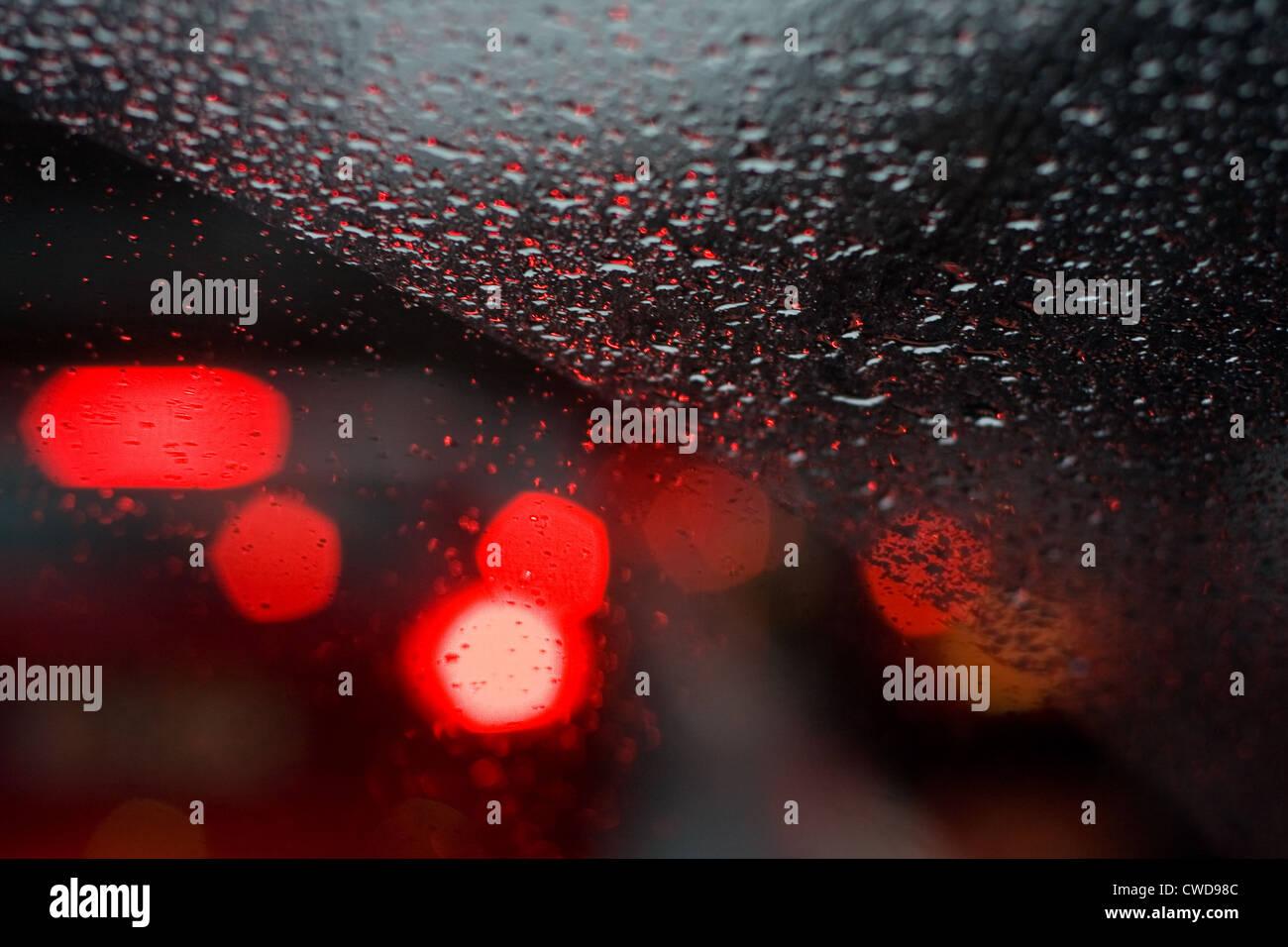 wet,waterdrop,windshield - Stock Image