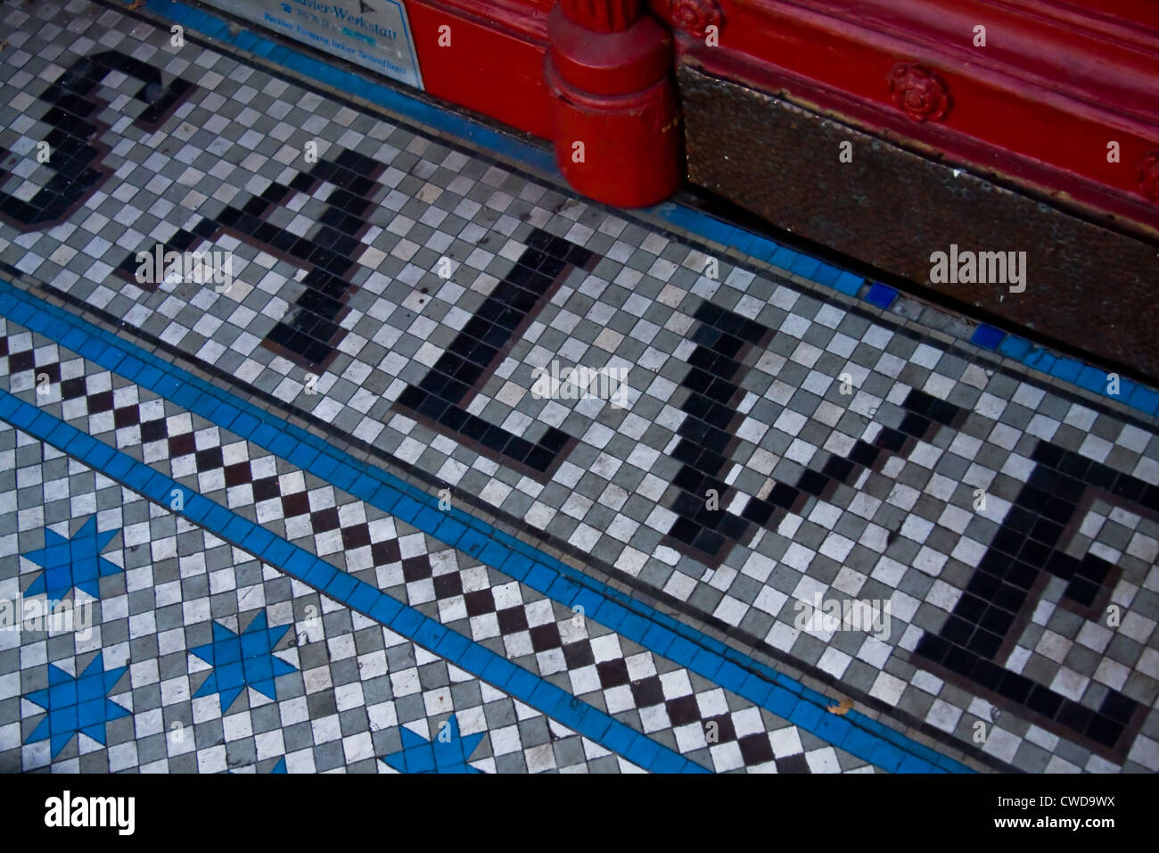 mosaic,floor tile,welcome address Stock Photo: 50080294 - Alamy