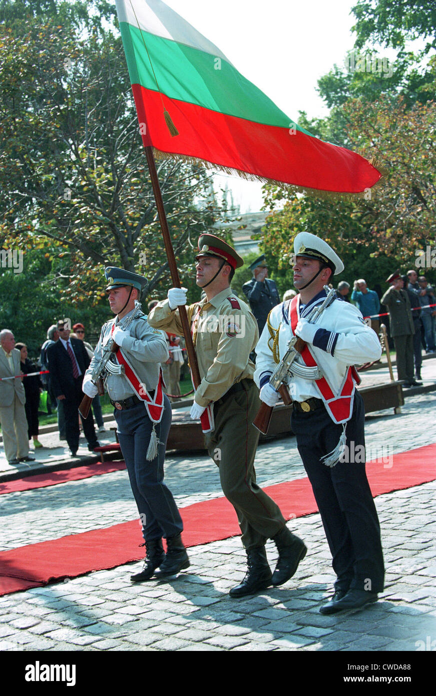 Honour of the Bulgarian army at a ceremony in Sofia Stock Photo