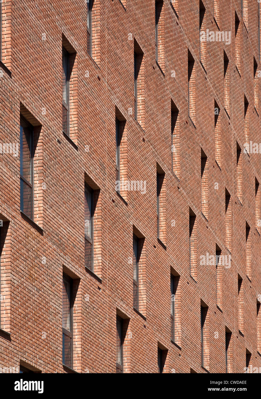Windows in an apartment block in East Road, London. - Stock Image