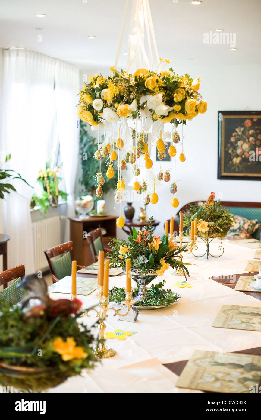 Mainz, The Easter Decorations In The Dining Room Of The Nursing Home