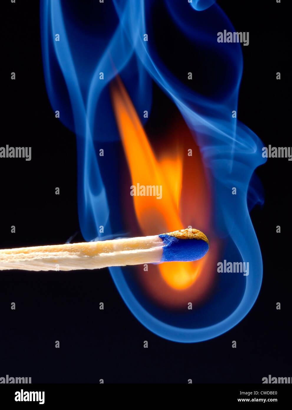flame,matchstick - Stock Image