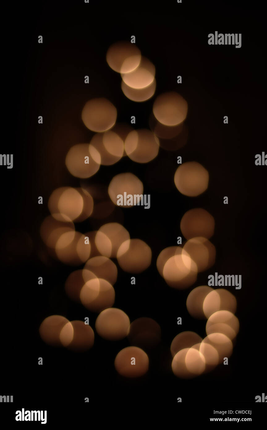 Blurry Christmas Tree Lights Stock Photo