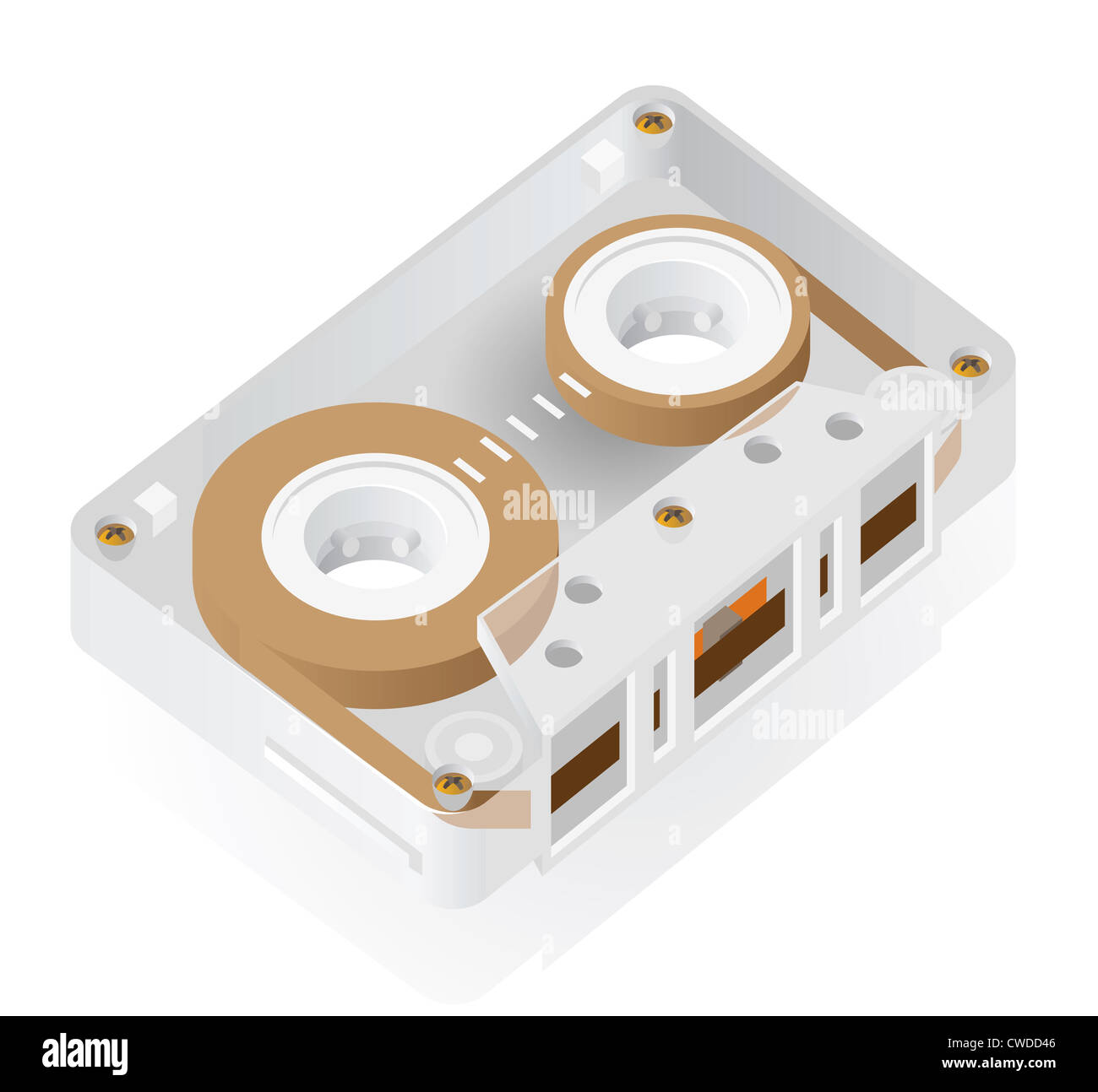 Magnetic audio compact cassette - Stock Image