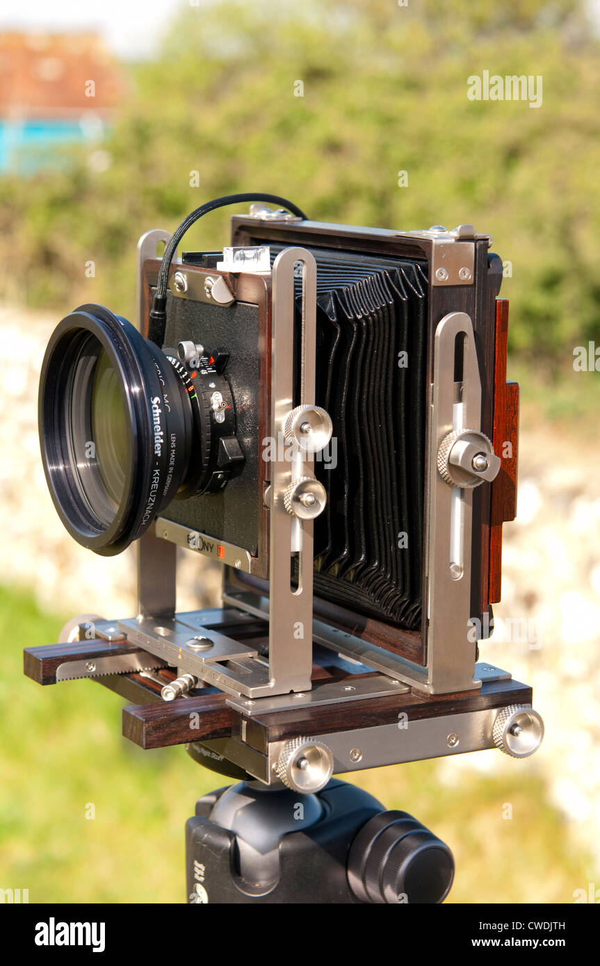 A modern large format Ebony SW45S view camera - Stock Image