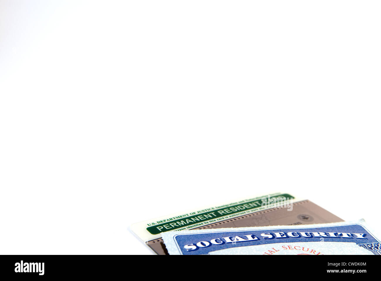 Social Security & Green Card - Stock Image