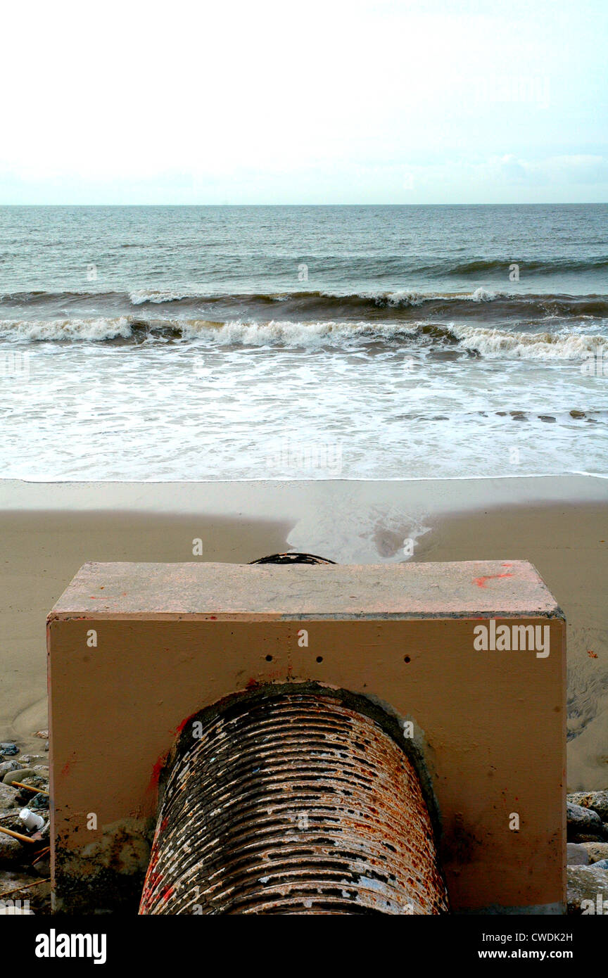 Coastal Water PollutionStock Photo