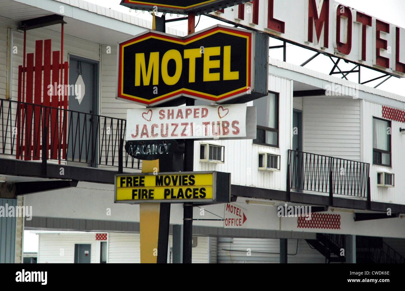 Cheesy Honeymoon Motel Stock Photo