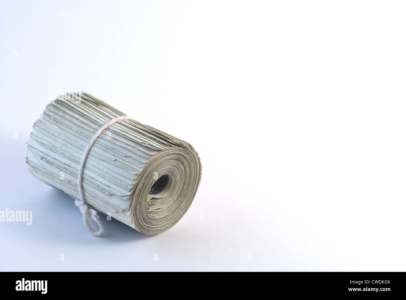 Neatly Rolled Cash Stock Photo
