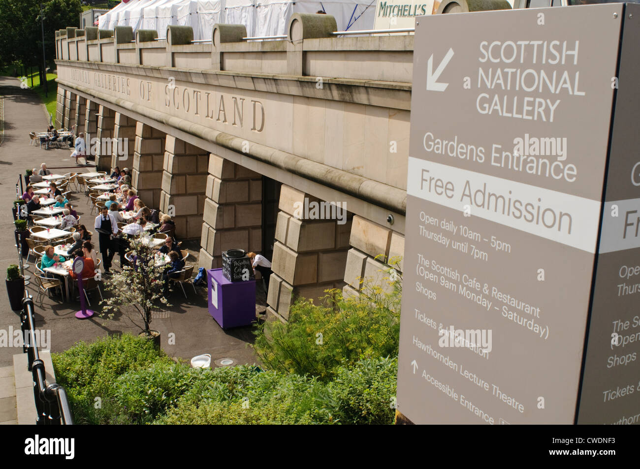 Scottish National Gallery Outdoor Cafe In Princes Street