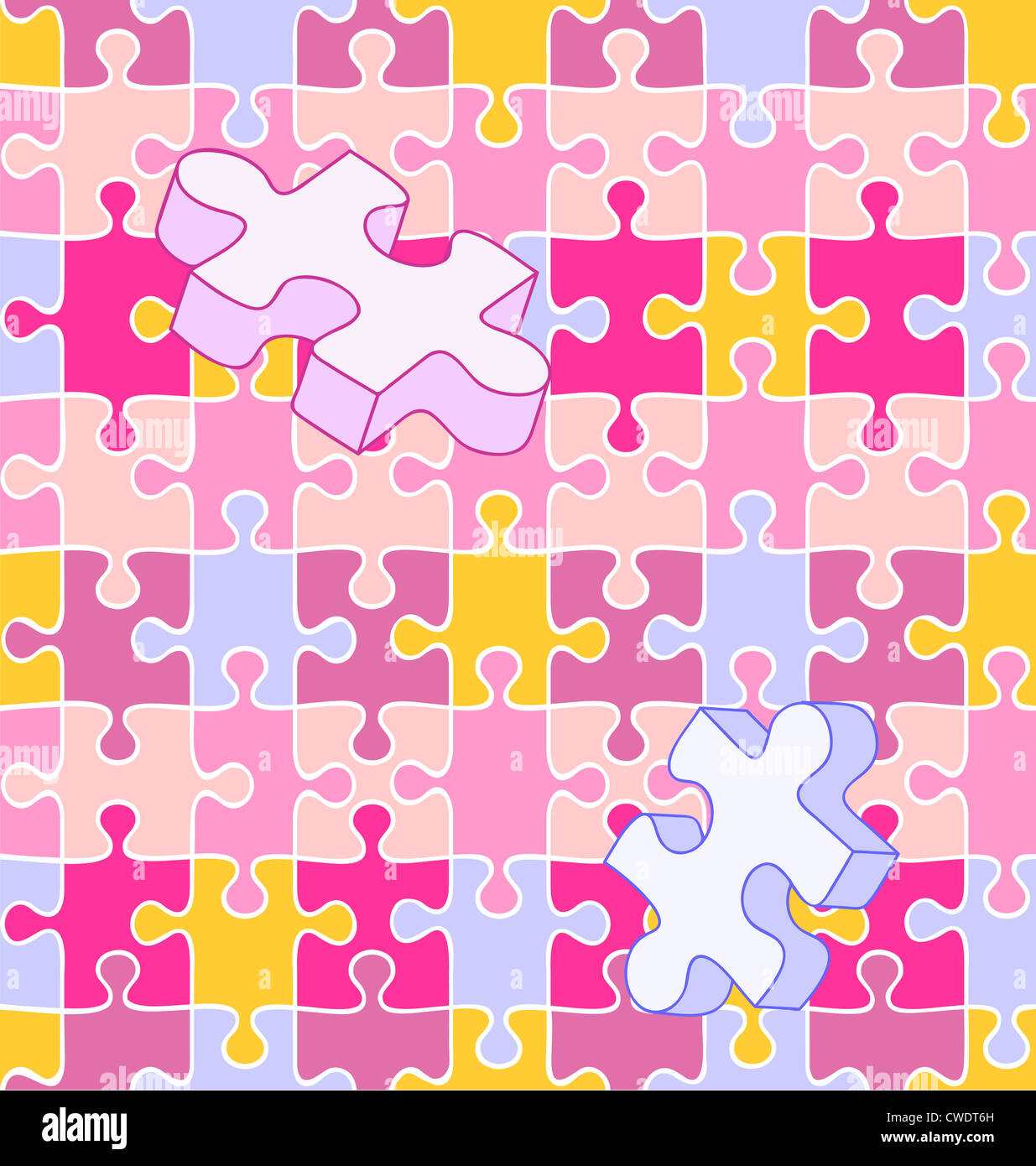 Seamless Vector Swatch Of Colorful Wall To Puzzle Pieces Align Perfectly For Wallpaper Or Background