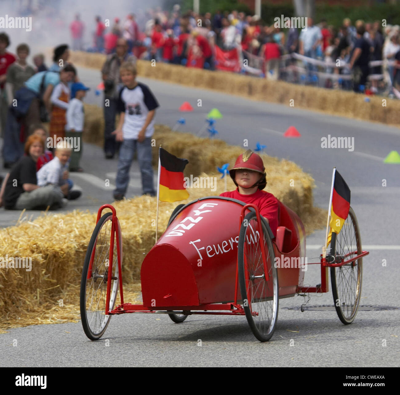 Red Bull Soap Box Derby >> Children with Soapbox Race Stock Photo: 50103042 - Alamy