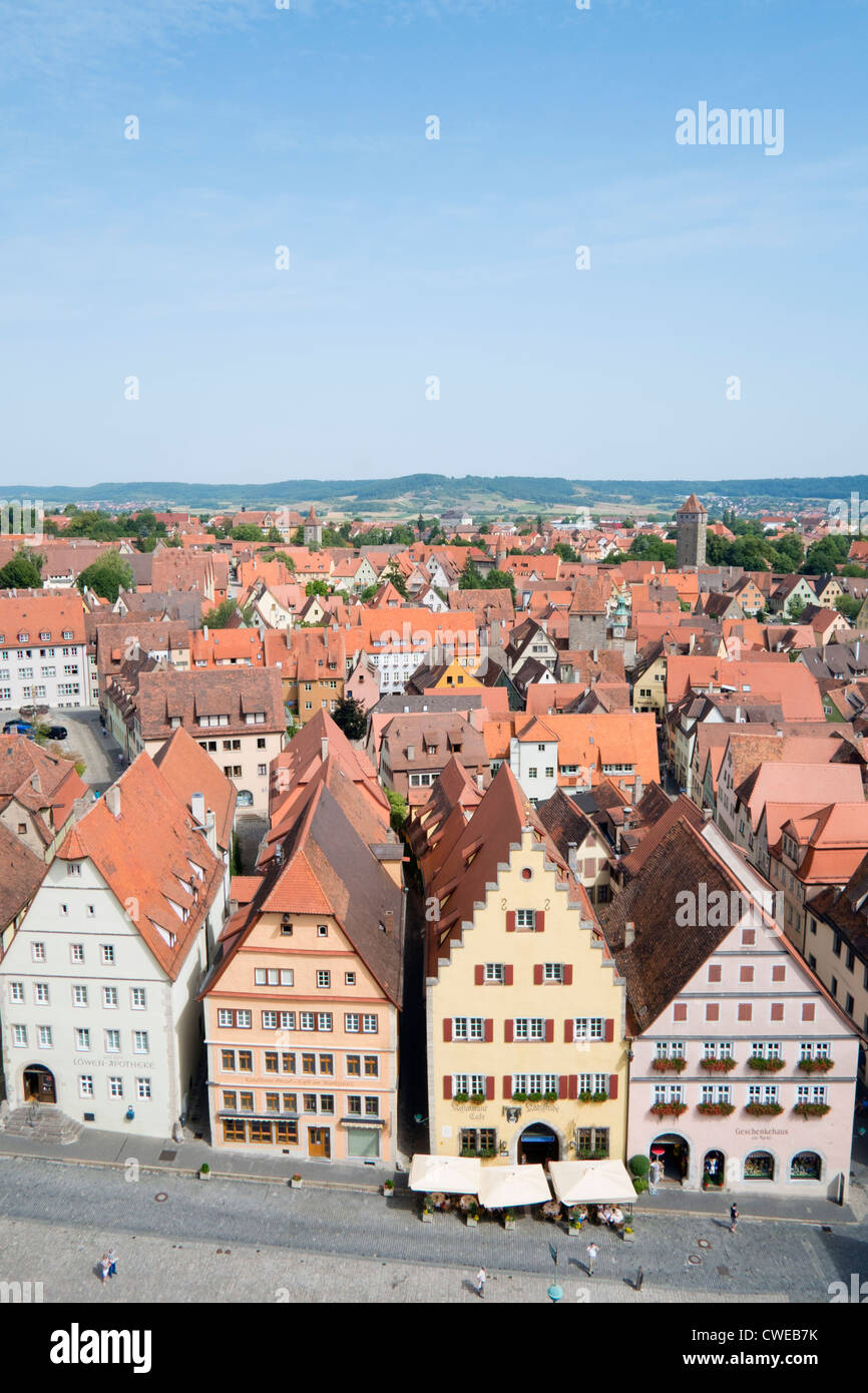 Rothenburg ob der Tauber medieval town in Bavaria Germany Stock Photo