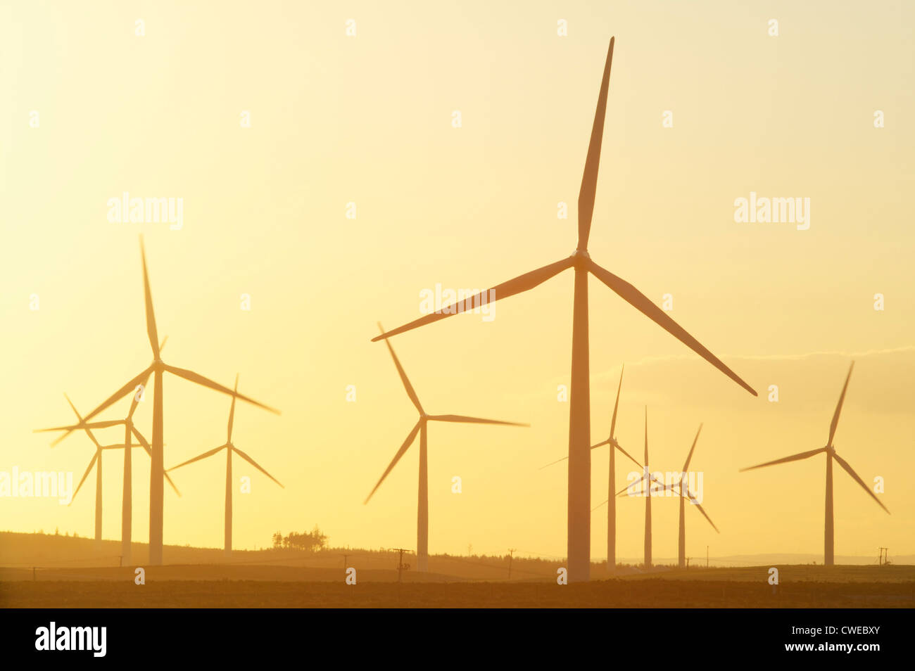 Black Law Wind Farm, near Forth, South Lanarkshire, Scotland, UK - Stock Image