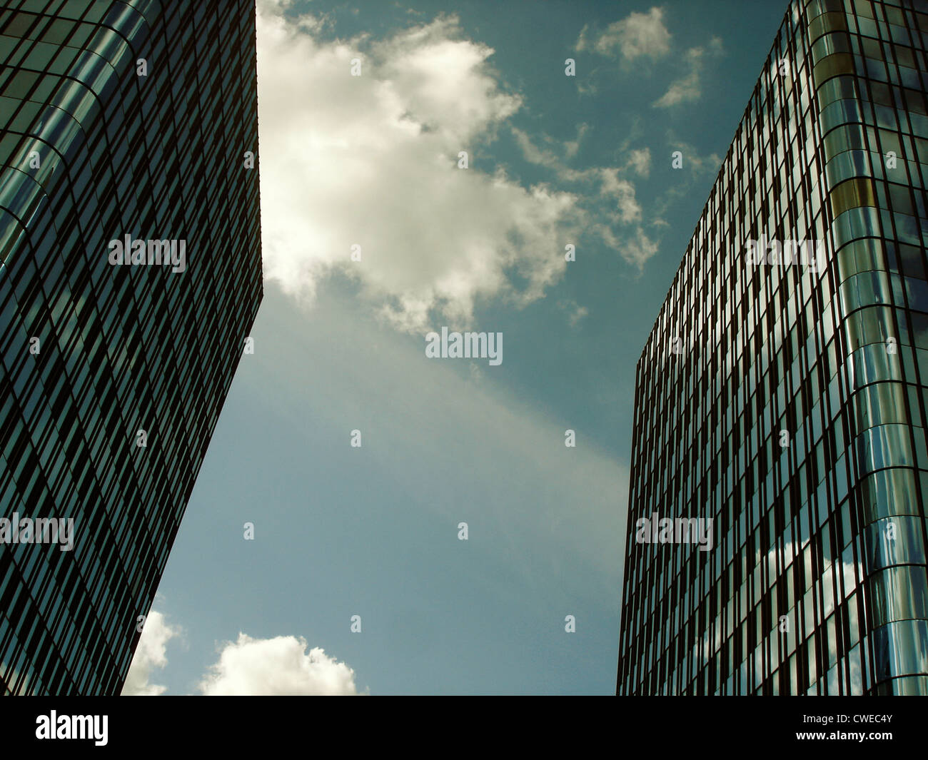 modern architecture,glass facade - Stock Image