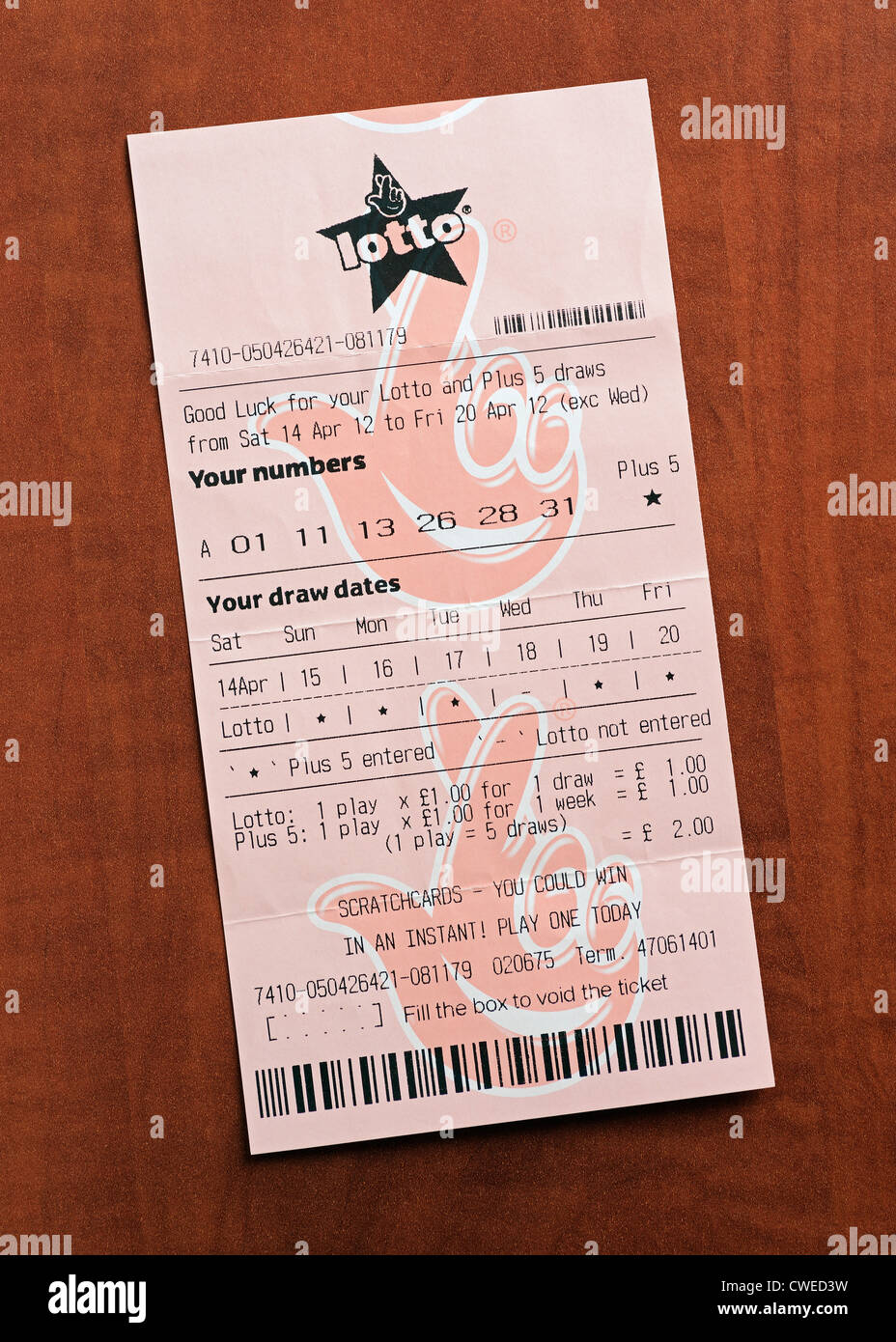 Lotto Ticket Numbers Stock Photos & Lotto Ticket Numbers Stock ...