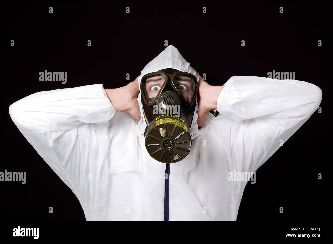danger,risk,pollution,gas mask,air pollution - Stock Image