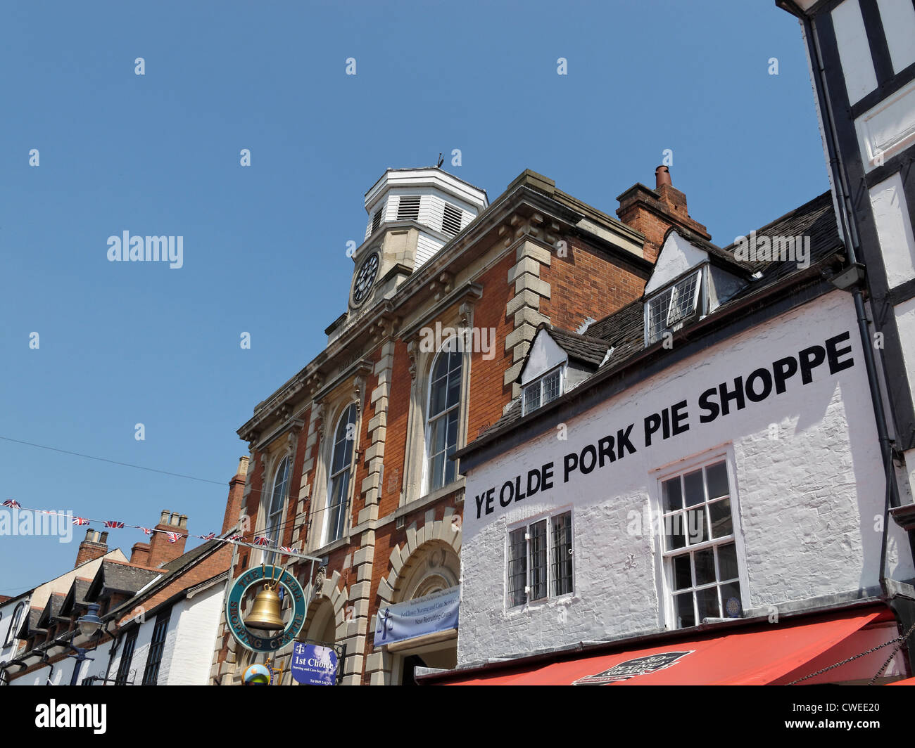The 'Ye Olde Pork Pie Shoppe', Melton Mowbray, Leicestershire, England. - Stock Image
