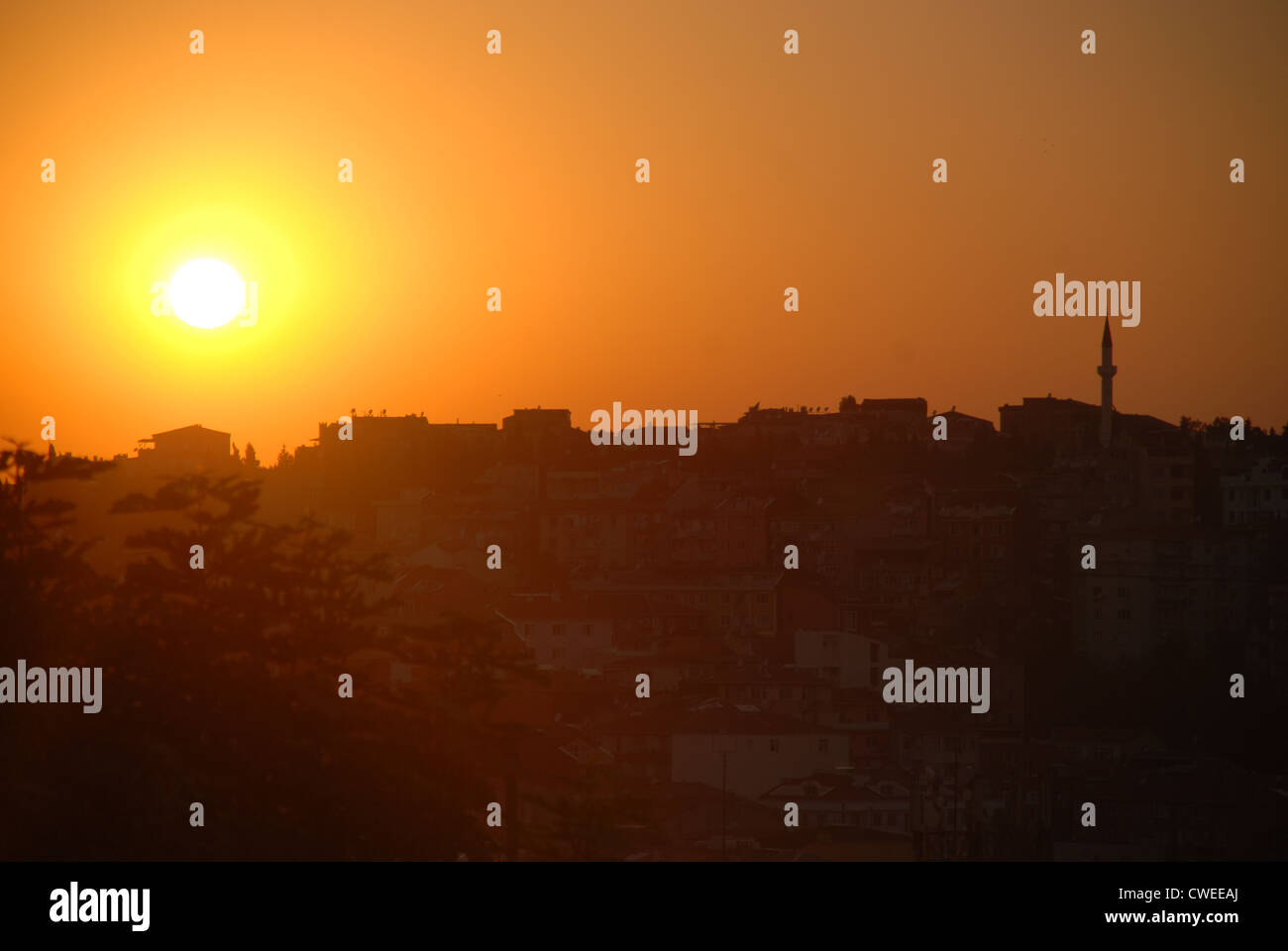 Sunset in Istanbul. Picture by Adam Alexander/Alamy - Stock Image