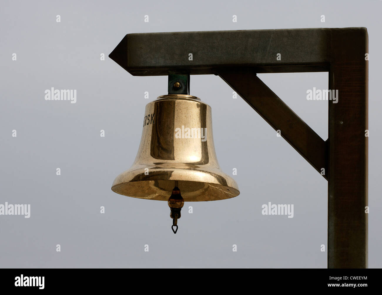 Bell on the gallows - Stock Image