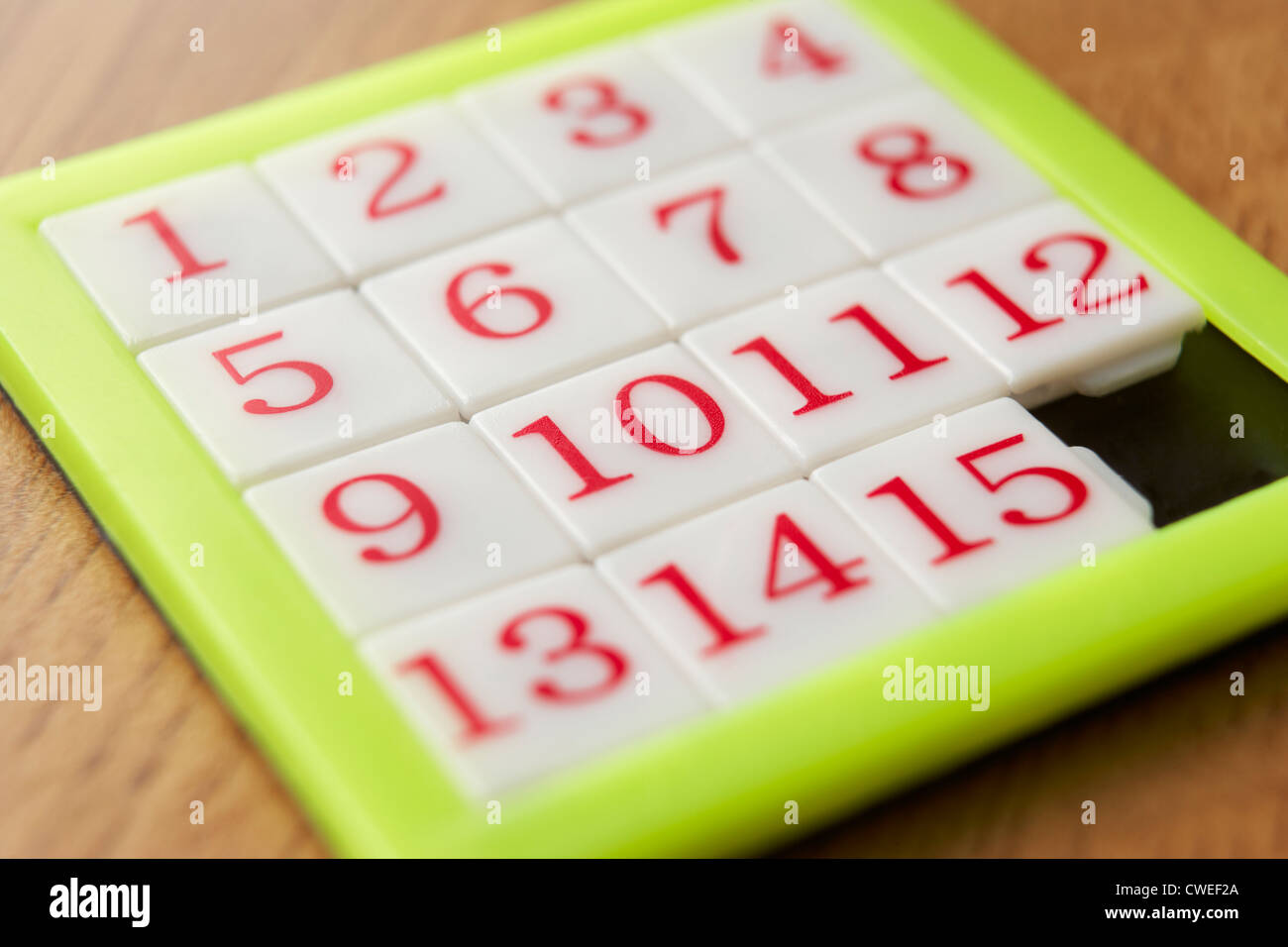 Number puzzle - Stock Image