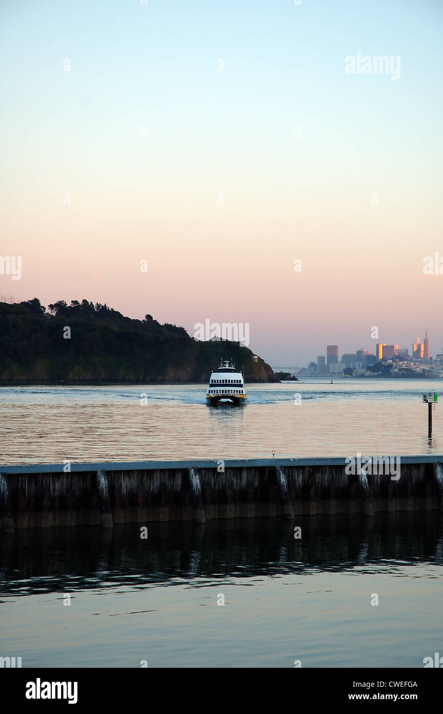 San Francisco Ferry at Sunset Stock Photo