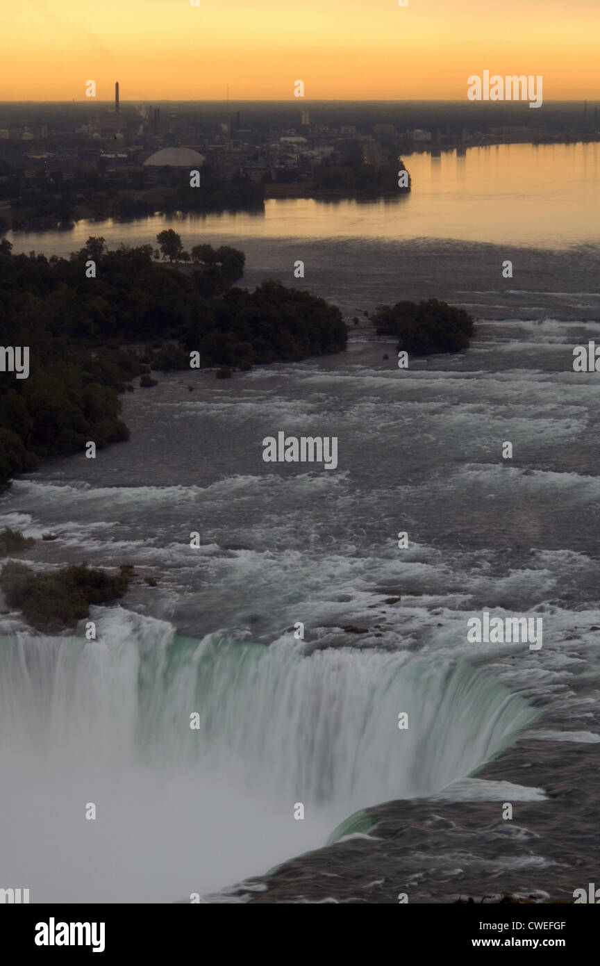 Niagara Falls at Dawn Stock Photo