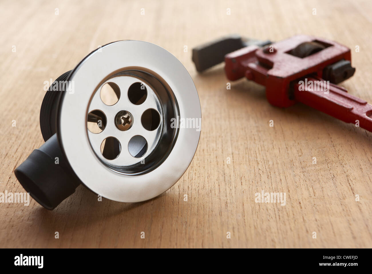 Plumbing tools and materials - Stock Image