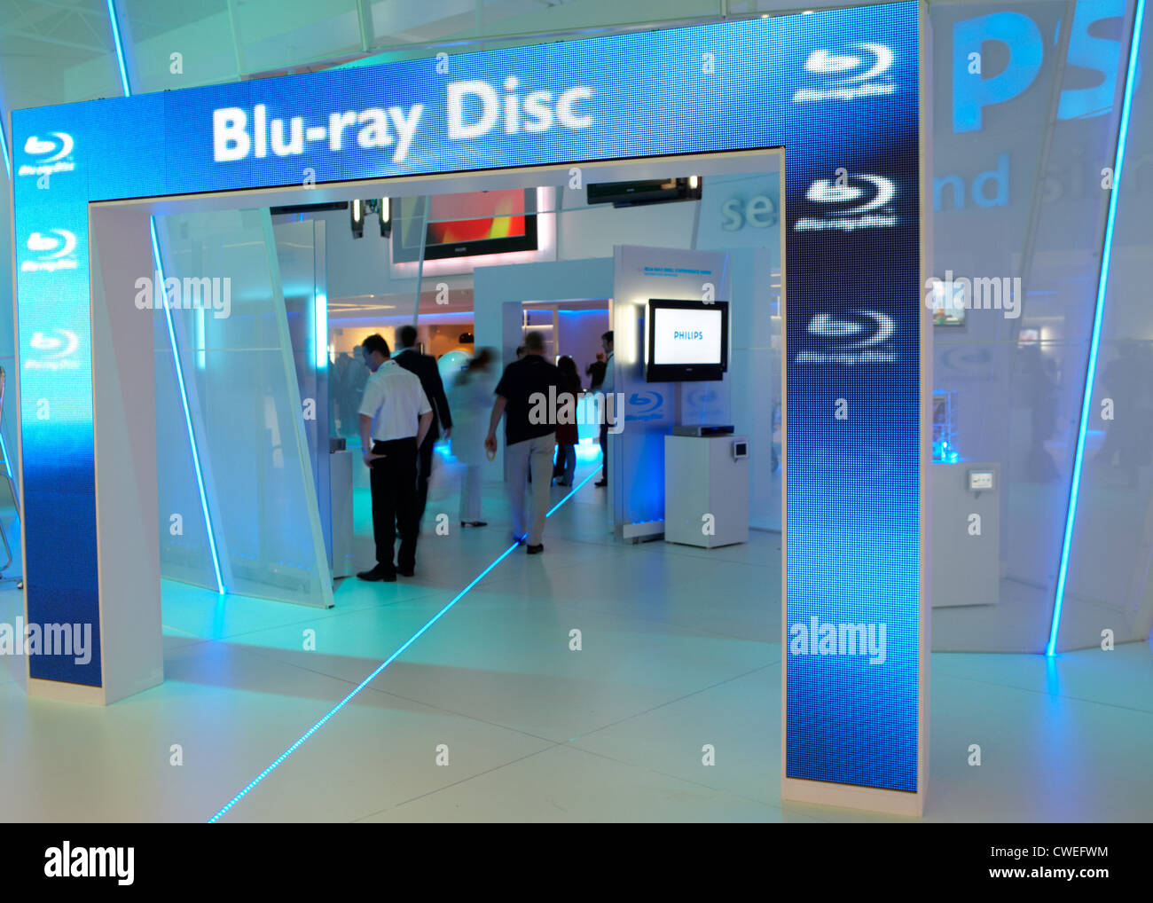 Philips at IFA everything related to the application of the Blu-ray Disc - Stock Image