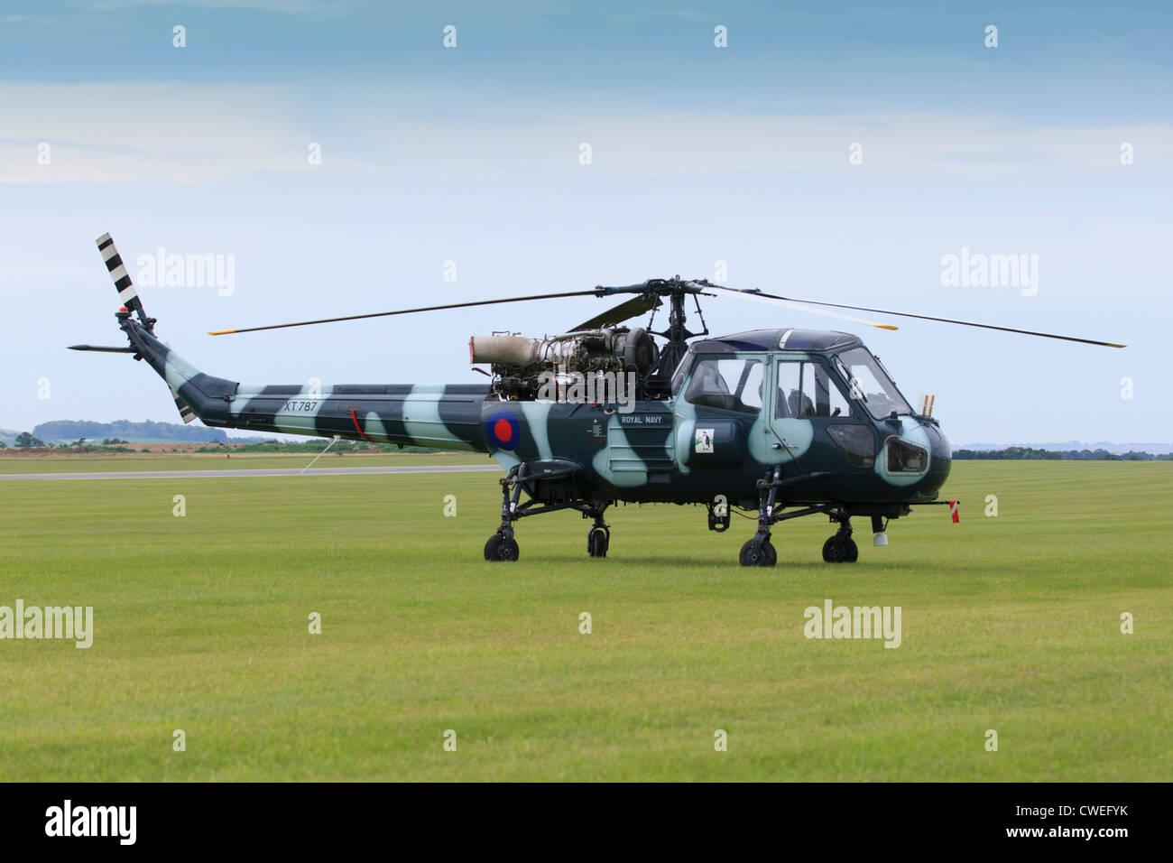 Westland Wasp helicopter at Duxford aerodrome - Stock Image