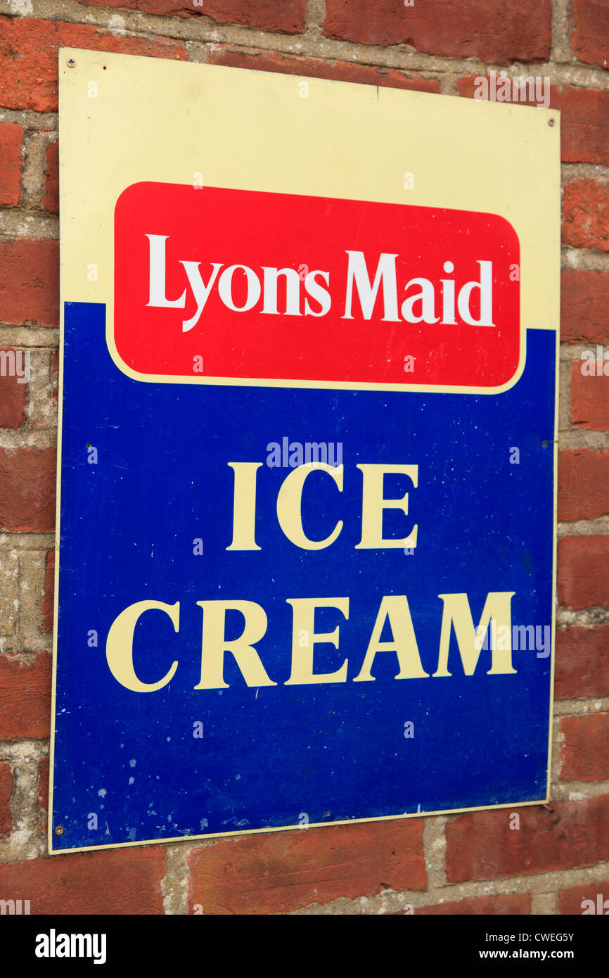 Vintage Lyons Maid Ice Cream Sign - Stock Image
