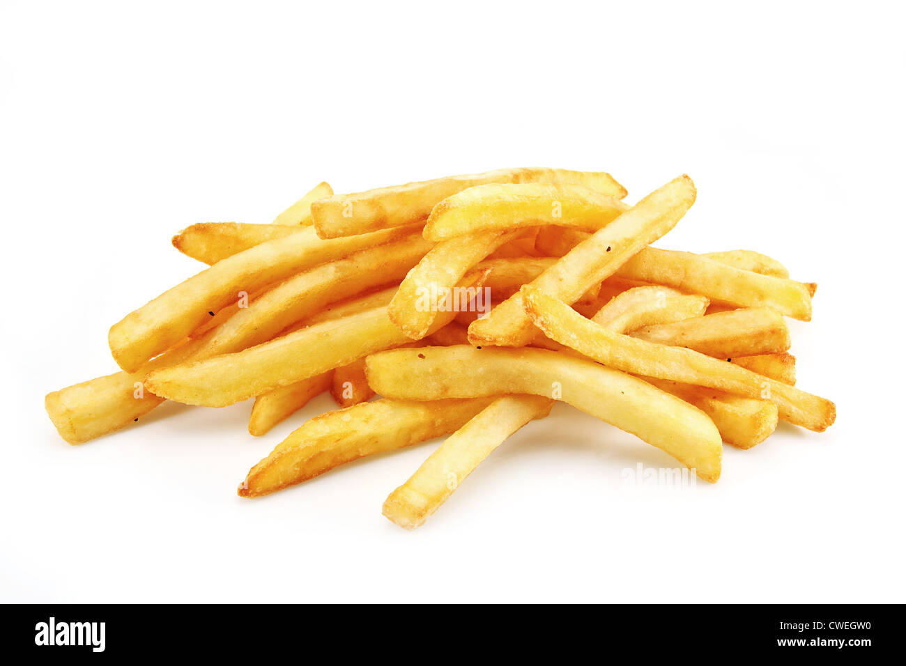 French Fries or Chips originally called pommes frites and more recently named freedom fries in america - Stock Image