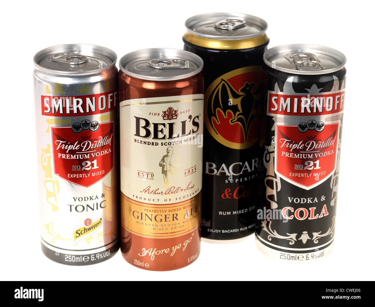 Cans of alcohol - Stock Image