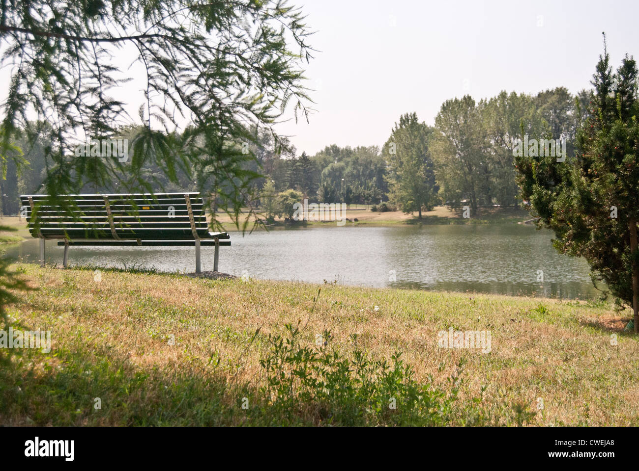 lake, Parco Forlanini, Milano - Stock Image