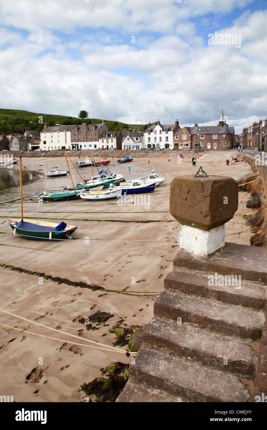 Harbour Steps at Stonehaven Aberdeenshire Scotland - Stock Image