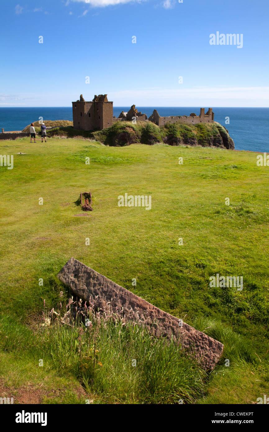 Dunnottar Castle near Stonehaven Aberdeenshire Scotland - Stock Image