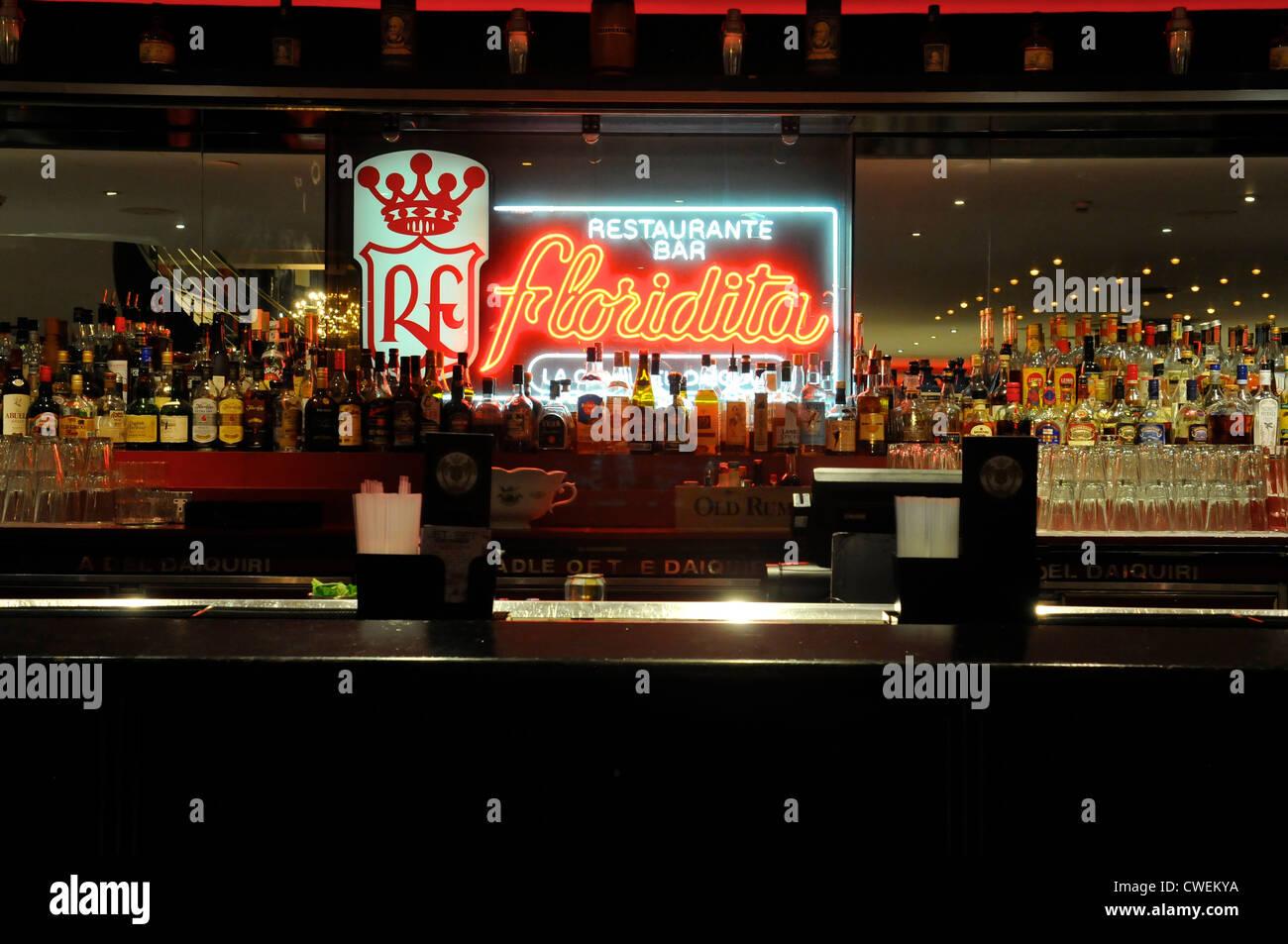 Floridita Cuban Bar, Wardour Street, Soho, London - Stock Image