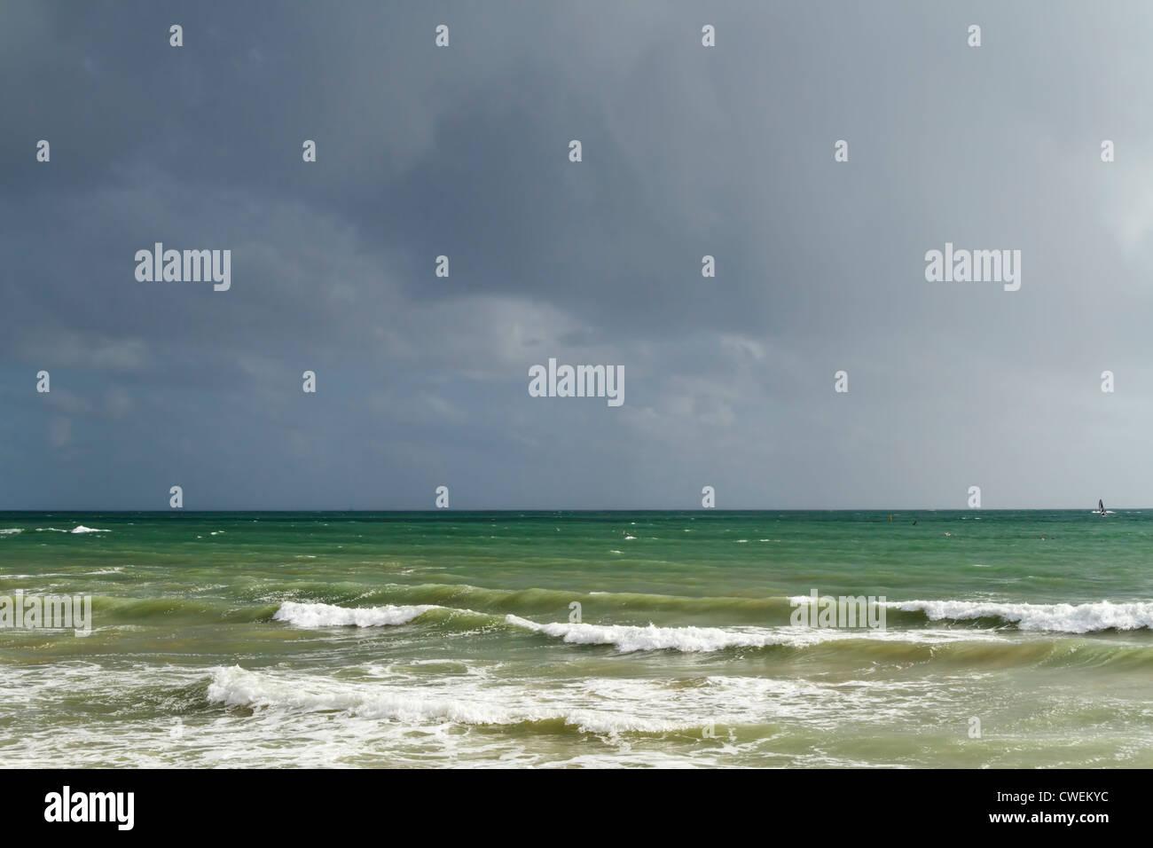 Atlantic ocean on west coast of France, Europe. - Stock Image