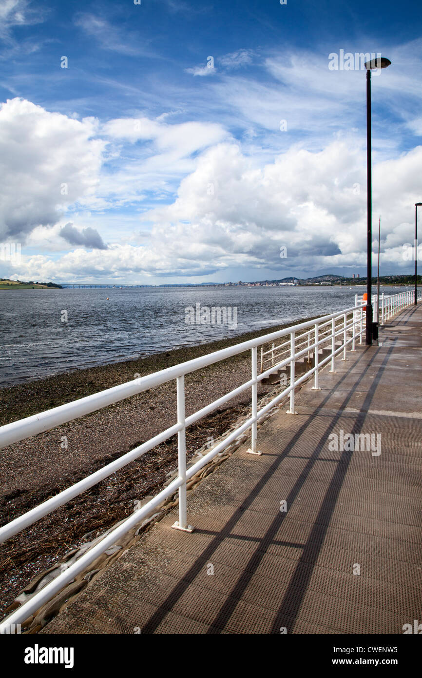 Clearing Storm over the River Tay at Broughty Ferry Dundee Scotland - Stock Image