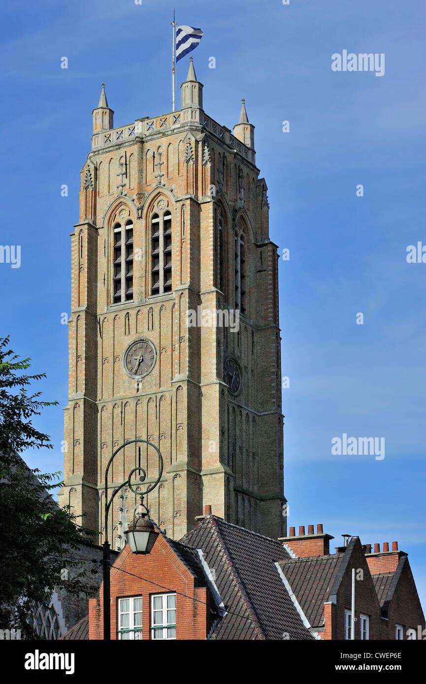 The belfry at Dunkirk / Dunkerque, Nord-Pas-de-Calais, France - Stock Image