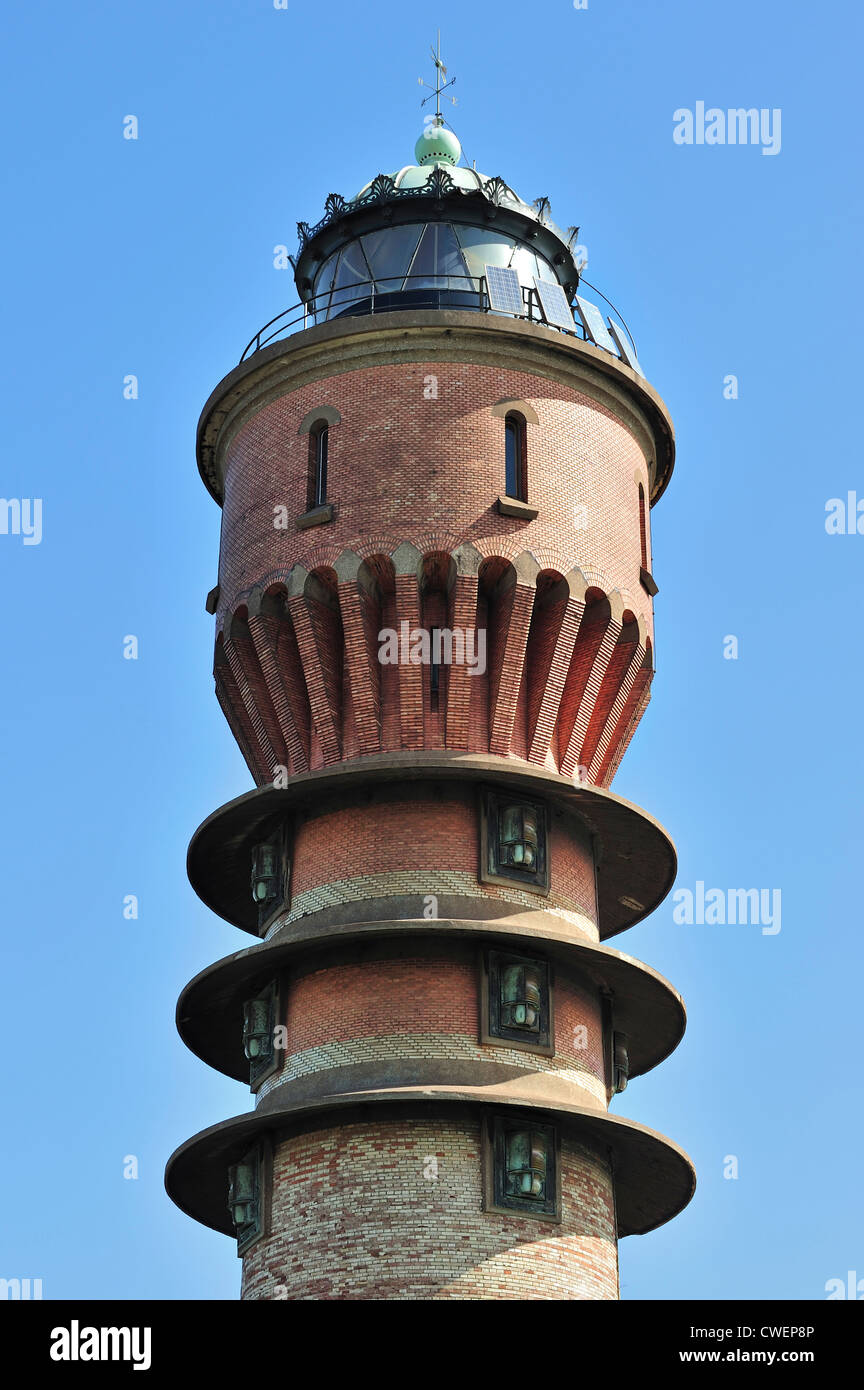 The lighthouse Feu de Saint-Pol at Dunkirk / Dunkerque, Nord-Pas-de-Calais, France - Stock Image