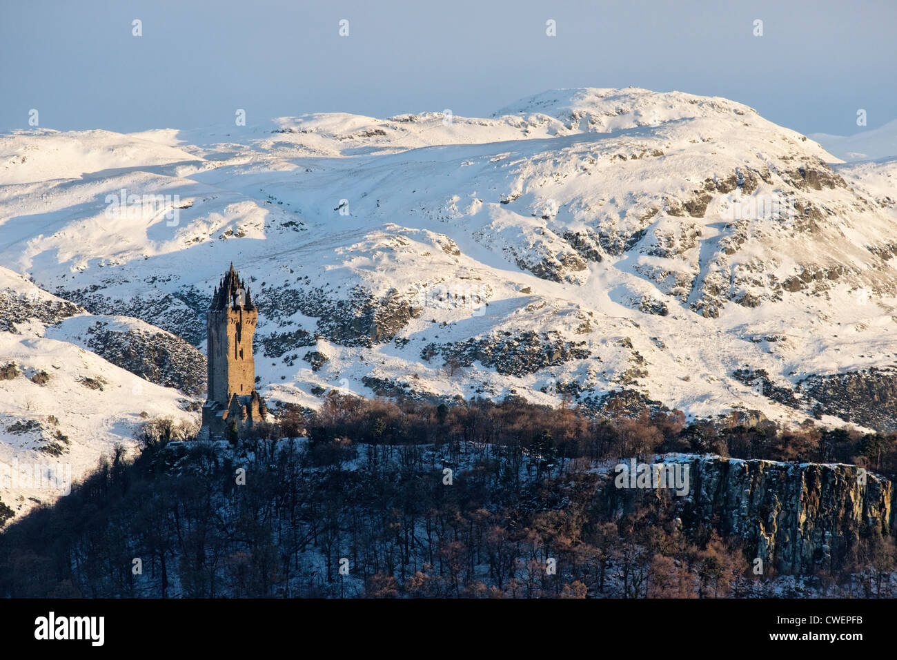 The National Wallace Monument on Abbey Craig, Stirling, Scotland, UK. Stock Photo