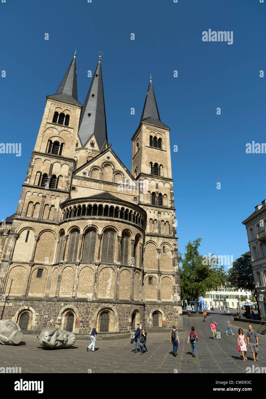 Bonn Cathedral,Bonn,Germany,Europe - Stock Image