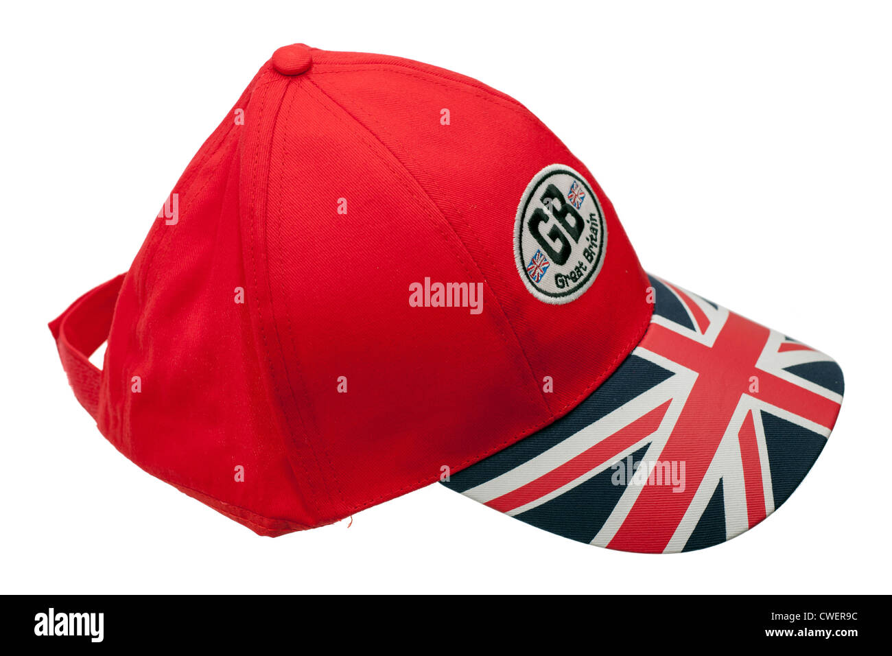 26176f84ef536 Red GB Great Britain Union Jack baseball cap - Stock Image